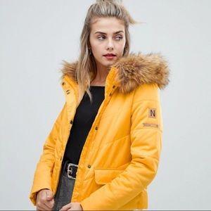 Asos Yellow Puffer Jacket